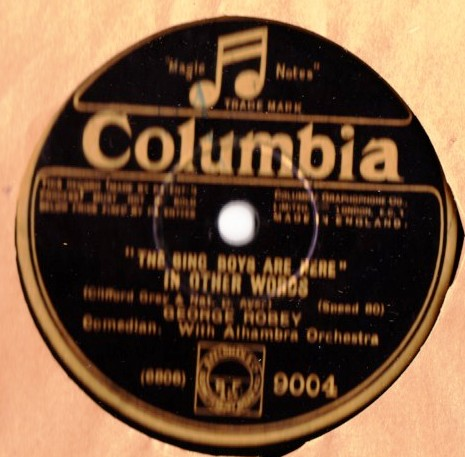 George Robey - The Bing Boys are here - Columbia 9004